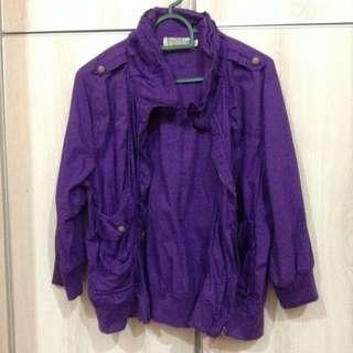 [REDUCED] Striking Purple Crop Jacket