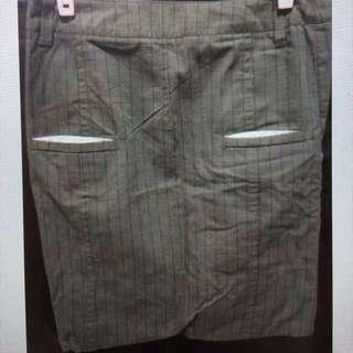 A La Sha 直條紋造型短裙