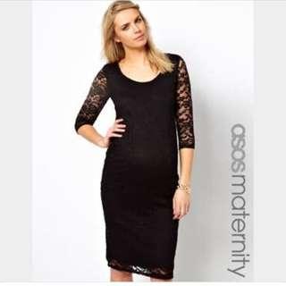 Lace Bodycon Maternity Dress
