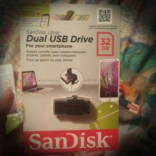 OTG SanDisk USB32g /全新