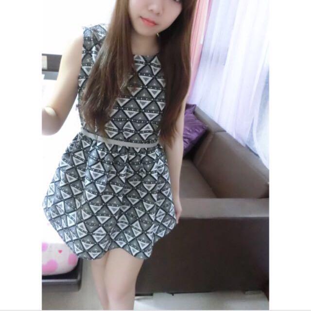 🇰🇷正韓 幾何圖形小洋裝