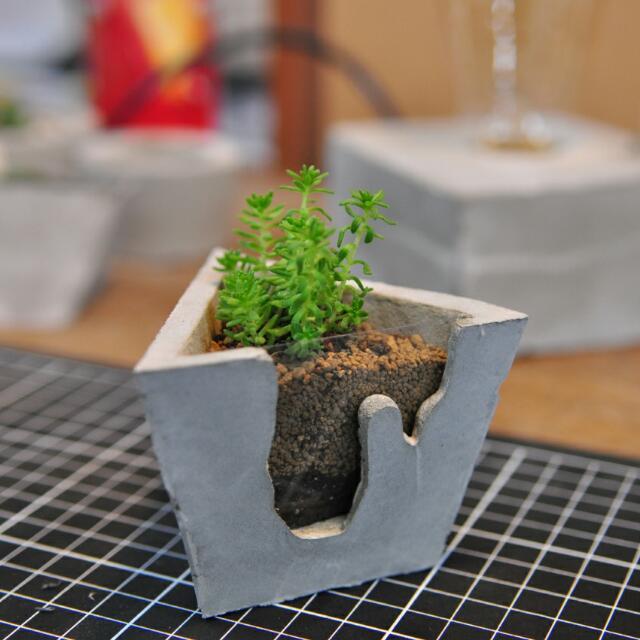 特價 全手工水泥盆栽 透明土分層