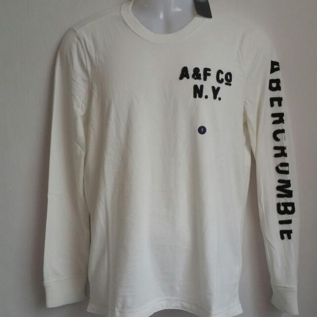 53d9ddd5c8f0d Abercrombie   Fitch Applique Graphic Long Sleeve Tee