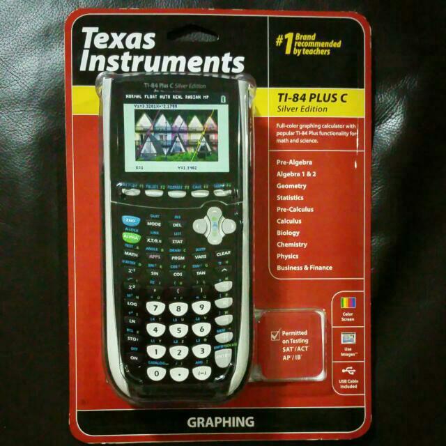 Calculators Texas Instruments TI-84 Plus C Silver Edition