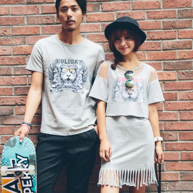 Couple Wear: Tee And Two Pieces