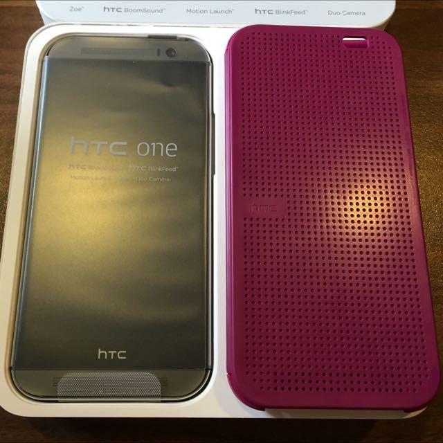 HTC ONE M8 16GB 鐵灰色(二手空機 附贈原廠智慧皮套)