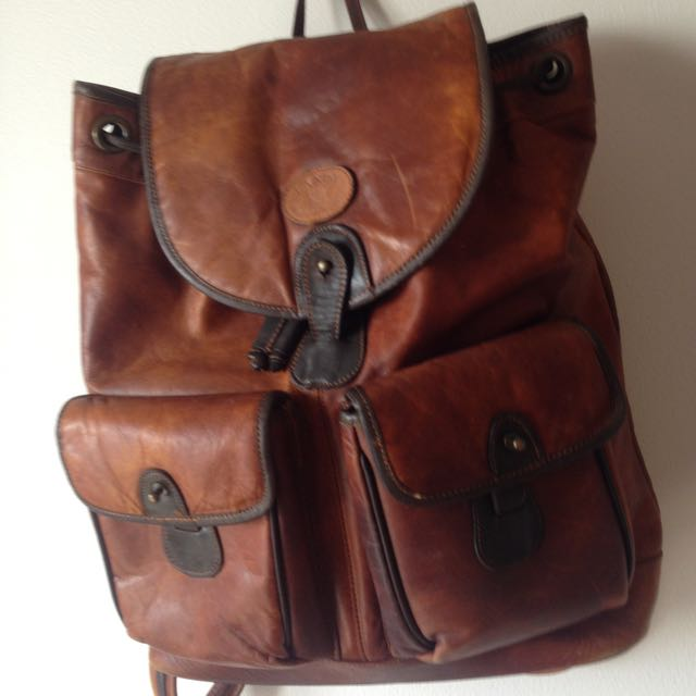 Landy Western Leather Backpack