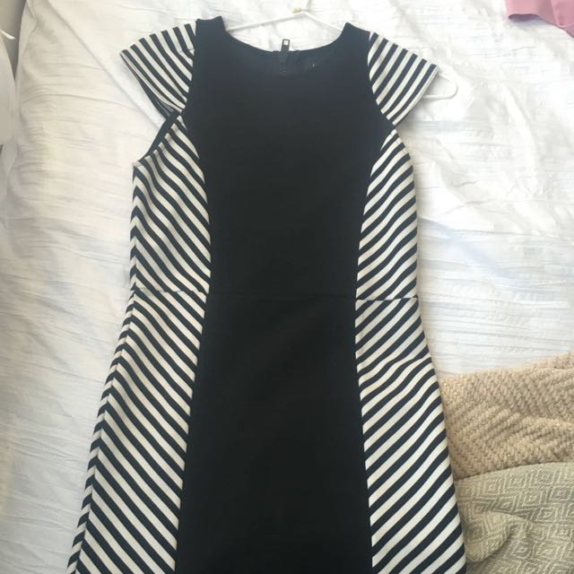 Mink Pink Black White Dress