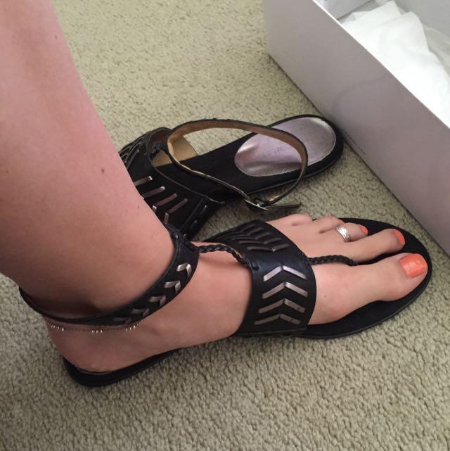 Nine West Sandals Aztec Style