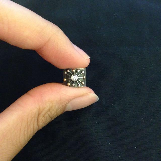 PANDORA charm bead Star 14k Yellow gold