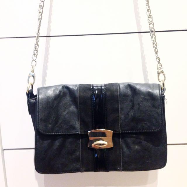 Sportsgirl Shoulder Bag Black