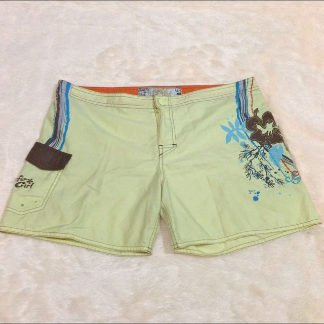 Surfer Girl Yellow Short
