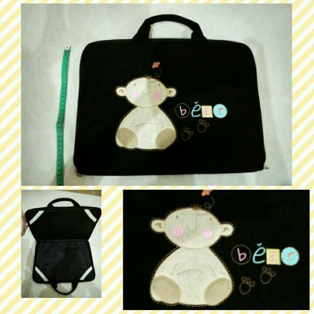 Tas Laptop Bear Krem Warna Hitam Murah Uk. 41x29