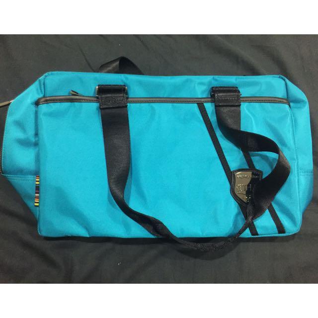 (全新)THE89 美國時尚品牌旅行手提肩背包 亮藍色全新