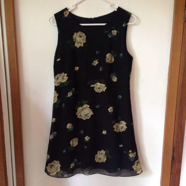 Vintage Retrostar Grunge Floral Dress
