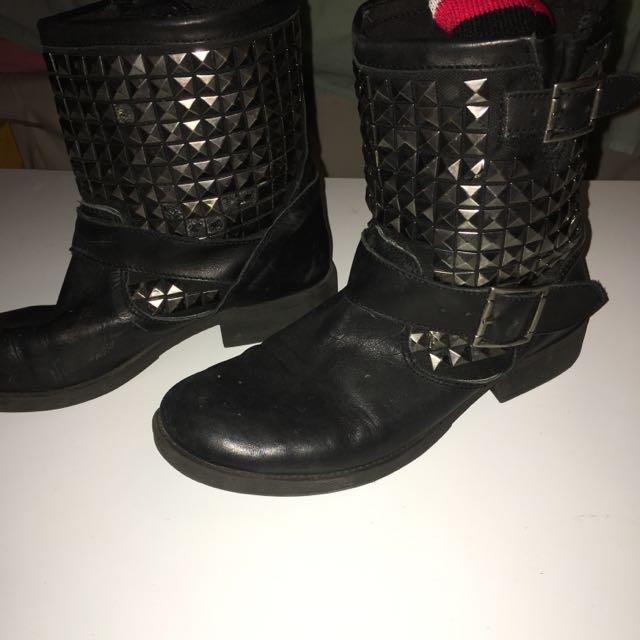 Windsor Smith Black Biker Boots