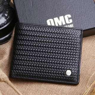 Omc 韓國專櫃品牌 編織系皮夾 真皮牛皮