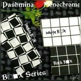 Pashmina Monochrome Box Series / Pashmina Murah