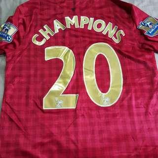 Manchester United Retro Vintage Champions Jersey