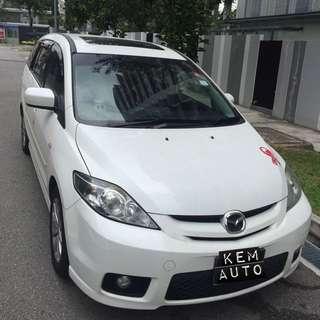Mazda 5 2.0L Auto sunroof For Cheap Car Rental
