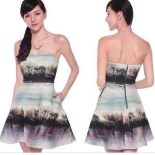 BNWT Love Bonito Farryne Forest Neoprene Dress