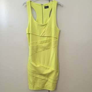 Bardot Dress Yellow