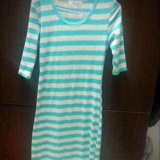 湖水綠 連身 長裙