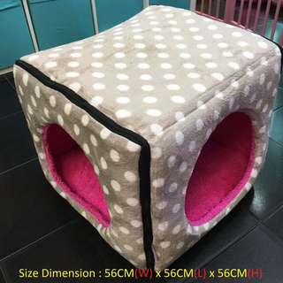 Pawpy Kisses Handcrafted Cube Bed