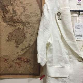 依蕾高質感垂墜感短版七分袖西裝外套