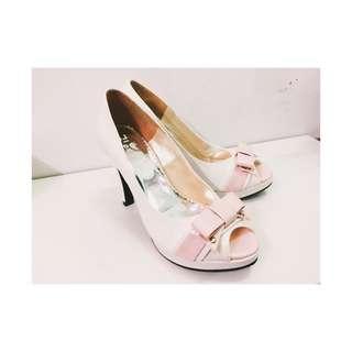 韓版 蝴蝶結🎀漆皮厚底高跟鞋