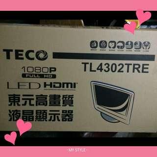 全新💕 東元led43吋電視
