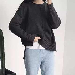深灰色毛衣
