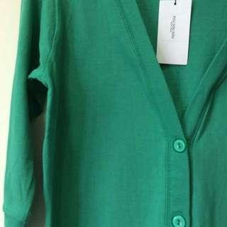 全新!日本poudoudou綠色小外套