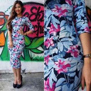 Nsa Floral Midi Dress