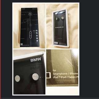全新2016年 BMW原廠耳機。支援iPhone,iPad,PC 及其他智慧型