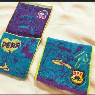 二個全新未用Disney鴨嘴獸泰瑞毛巾布丶裝細軟丶手飾手機丶化粧品生理丶等萬用小軟包