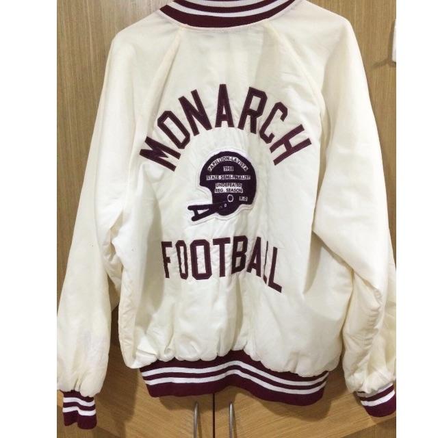 (寄賣)古著美式米白棒球外套