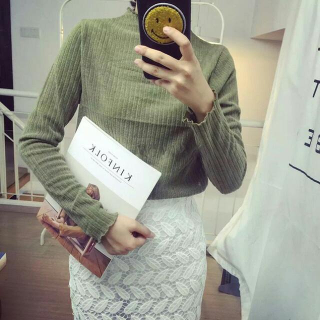 韓國波浪造型上衣