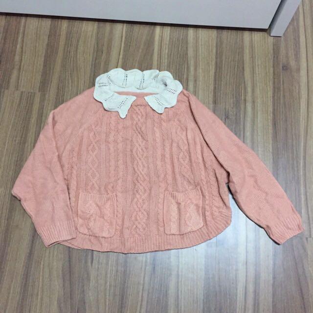 全新可愛粉色針織