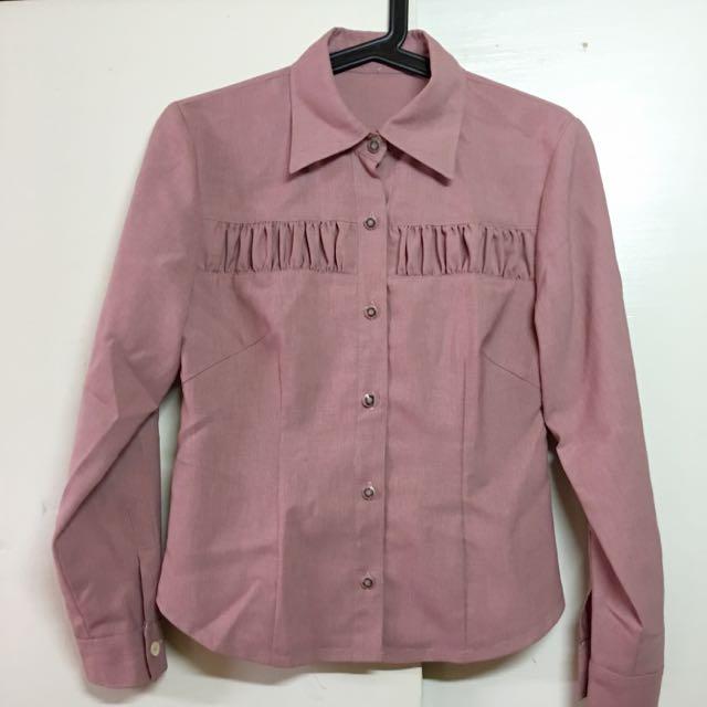 古著🔺粉色襯衫