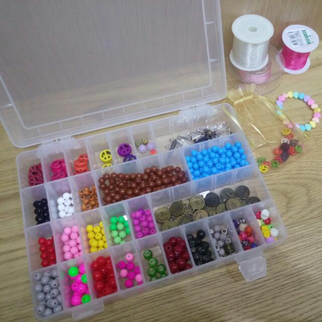 手工串珠盒整組便宜出售✨贈三捲線/袋子一個