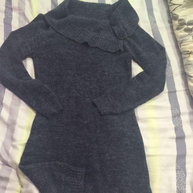 二手-韓貨 長版毛衣