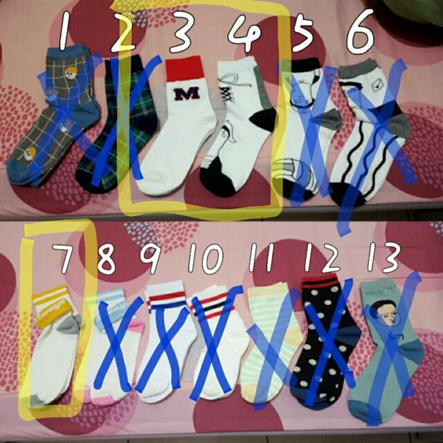 多款 流行 襪子 條紋 長襪