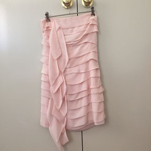 Baby Pink Ruffled Formal Dress