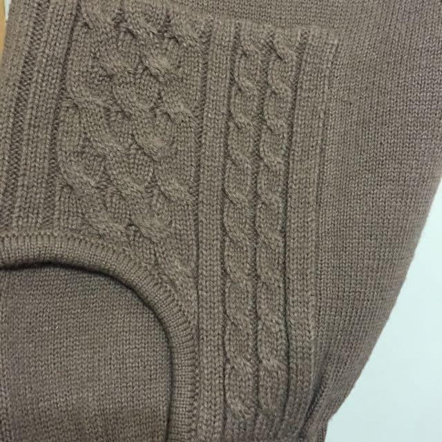 Beartwo棕色20%羊毛針織六分哈倫褲 瑕疵