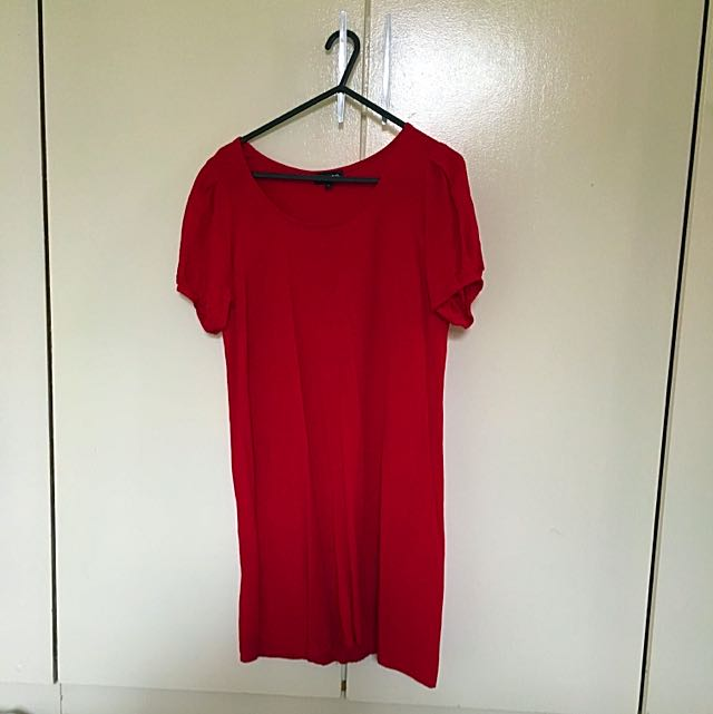 Bright Red 60's Style Dress