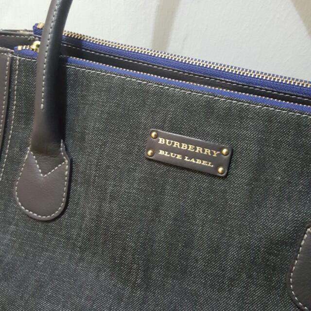 07cceda58e Burberry Blue Label Denim Bag