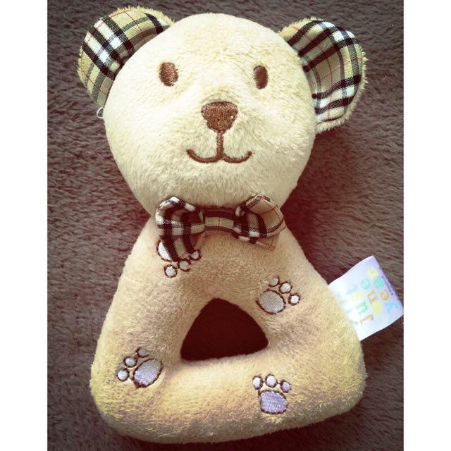 carter's 卡特 可愛動物 熊熊手搖鈴手搖棒BB棒 寶寶抓握益智玩具