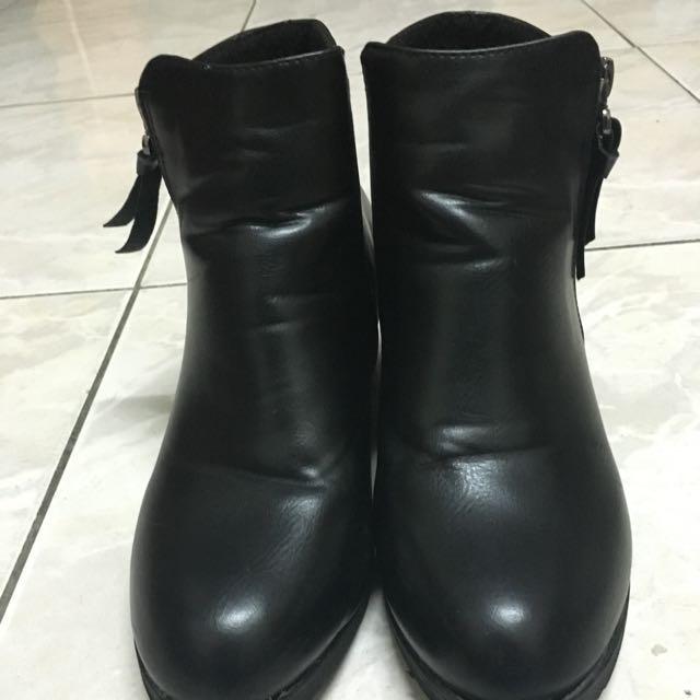D+AF熱銷款 黑色短靴