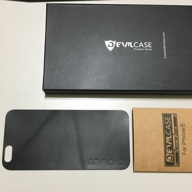 Devilcase iPhone 6/6s 牛皮背貼